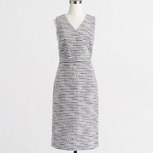 J Crew Factory Crinkle tweed dress